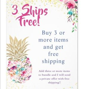 Buy 3 or more Items, Get Free Shipping!!!